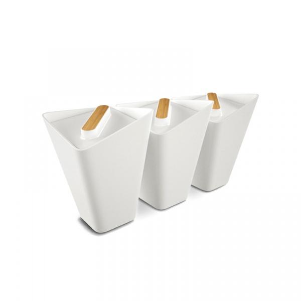 Zestaw 3-ech pojemników Forminimal biały FSJ001