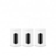 Zestaw 3 pojemników z okienkiem 1,4l Brabantia biały