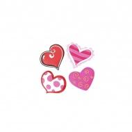 Zestaw 4 magnesów Swift serca