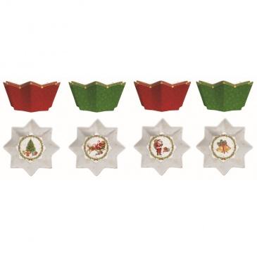 Zestaw 4 miseczek świątecznych 11 cm Nuova R2S
