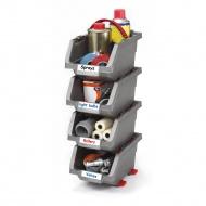 Zestaw 4 pojemników Click Bin (mały 0,45 L) Keter DIY