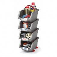 Zestaw 4 pojemników Click Bin (średni 1,3 L) Keter DIY