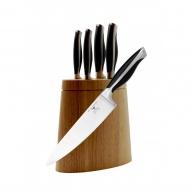 Zestaw 5 noży + stojak Linus - Grunwerg