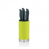 Zestaw 5 noży w bloku Kela Acida zielony