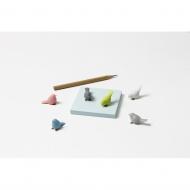 Zestaw 6 magnesów Mini Sparrow pastelowych 10258-PT