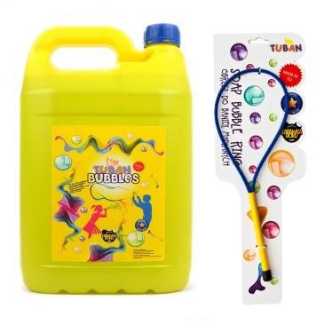 Zestaw bańki mydlane + obręcz 5l Tuban