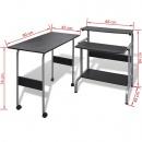 Zestaw biurko komputerowe + stół (Czarne)
