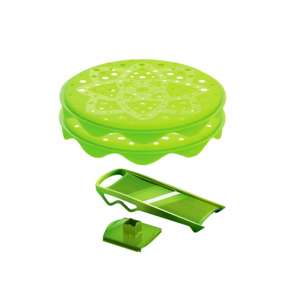 Zestaw do chipsów z szatkownicą Mastrad zielony MA-F64708
