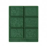 Zestaw do ciasteczek maślanych PETIT POESIE CHRISTMAS Birkmann zielony