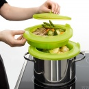 Zestaw do gotowania na parze Lekue zielony