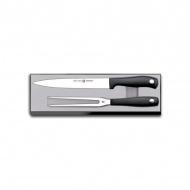 Zestaw do krojenia pieczeni nóż+widelec Wüsthof Silverpoint srebna
