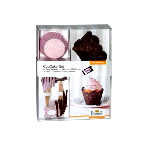 Zestaw do minibabeczek Birkmann Cupcake Rose - 72 elementy 441 002