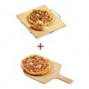Zestaw do pieczenia pizzy kamień + łopatka Kuchenprofi