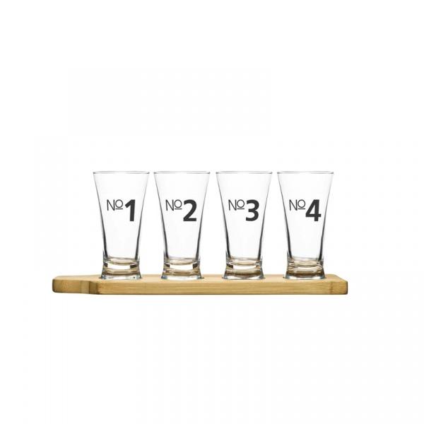 Zestaw do piwa 4 szklanki i podstawka Sagaform Bar SF-5016697