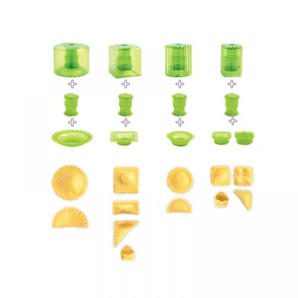 Zestaw do przygotowania ravioli 10 części Mastrad zielony MA-F26460