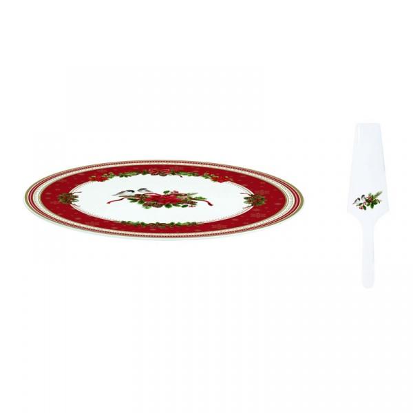 Zestaw do serwowania ciast Nuova R2S Christmas Collection gwiazda betlejemska 1112 SPIR