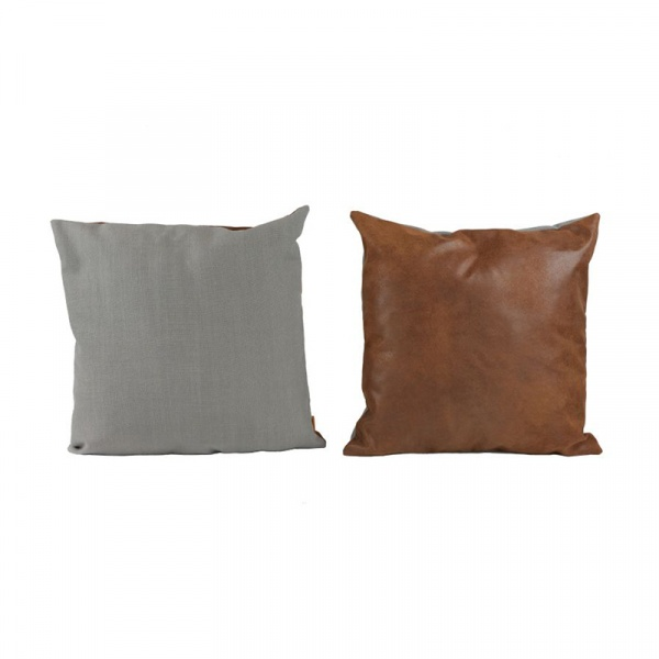 Zestaw dwustronnych poduszek 2szt 50x50cm Gie El Botanica brązowy/szary APL0161