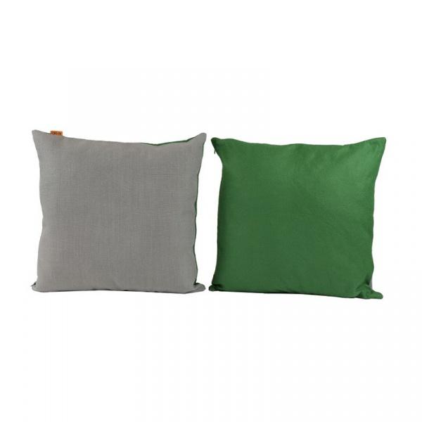 Zestaw dwustronnych poduszek 2szt 50x50cm Gie El Botanica zielony/szary APL0160