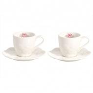 Zestaw filiżanek do espresso 2szt 0,07L Nuova R2S Jardin de Roses