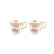 Zestaw kubków porcelanowych 2szt 0,3L Nuova R2S Heritage różowy