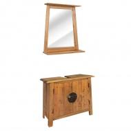 Zestaw mebli do łazienki, lite drewno sosnowe z odzysku