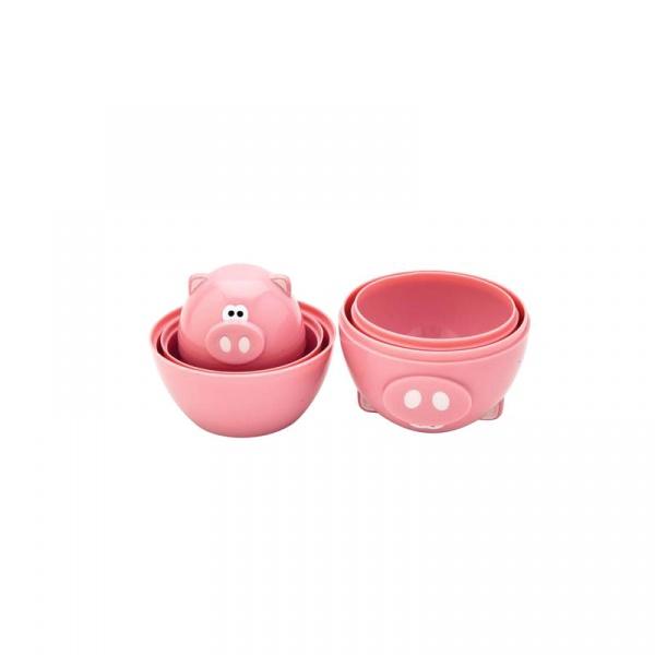 Zestaw miarek kuchennych 6 szt. MSC International Piggy różowy MS-78136