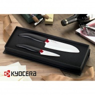 Zestaw noży ceramicznych Kyocera 14cm + 7,5cm czarna rączka