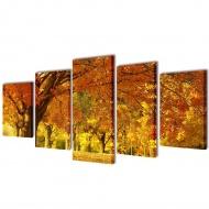 Zestaw obrazów Canvas 100 x 50 cm Klony