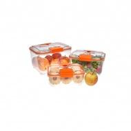 Zestaw pojemników 3 szt. Status pomarańczowy
