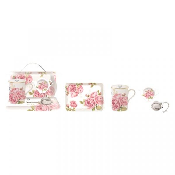 Zestaw prezentowy Nuova R2S Romantic Lace różowy 306 CATE