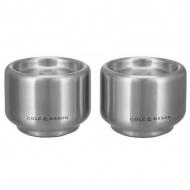 Zestaw solniczka i pieprzniczka Burley COLE & MASON srebrny