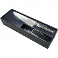 Zestaw Starter: Nóż szefa kuchni G-2 + ostrzałka MinoSharp Global G-2220GB
