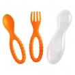 Zestaw sztućców dla dzieci z etui Mastrad 3 elementy pomarańczowe MA-F52509