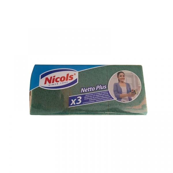 Zmywaki do kuchni Netto Plus 3 szt. Nicols XXL 5901718830031