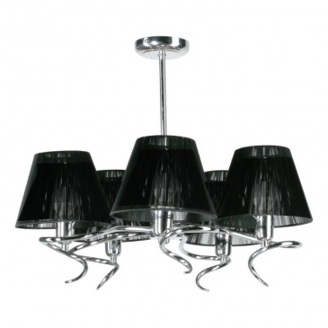 żyrandol Agnes 5 Lampex Czarny